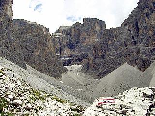 la muraglia della C. d' Auronzo dalla testata della Val del Màrden