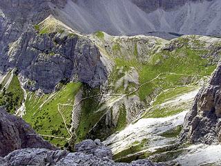 l'Alta Val Giralba dalla Cengia Gabriella