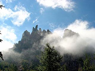 Cima d'Antórno e Punta dei Spiriti (Cadini di Misurina) dal sent. segn. 115