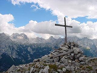 dalla cima della Croda de Cianpoduro verso le Marmaròle