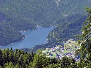 Il Lago di Centro Cadore dalla panoramica Cresta de Po Croda