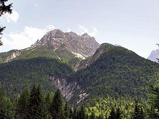 ll versante NO del M. Miarón con la Val dei Fornàte in primo piano
