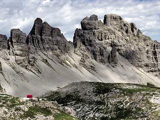 L'Alta Val Monfalcón di Forni in vista del Biv. Marchi-Granzotto