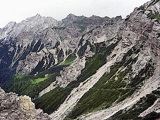 La  Val de Santa Maria, dai pressi di Forc. Spé