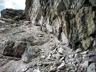 Scendendo dalla Forc. della Spalla verso la Val de Làusen