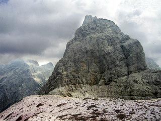 dalla Spalla del Duranno in vista del versante settentrionale del monte