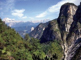 risalendo la Val Montina, in vista del Col Tondo